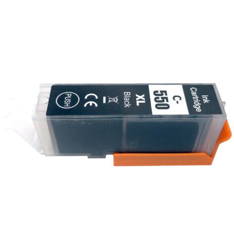 PGI-550XL Bk nagykapacitású (23ml!) +chip utángyártott PQ festékpatron IP7250/MG5450/6350/5550/5650