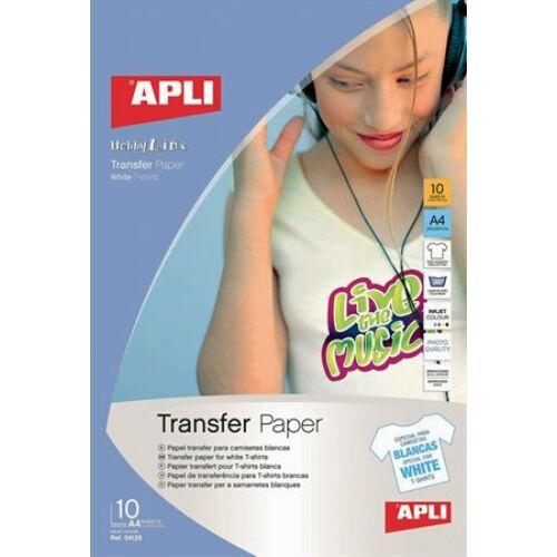 Fotópapír, A4, vasalható fólia fehér pólókhoz, tintasugaras, 1 ív