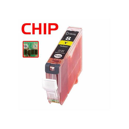 CLI-8Y sárga festékpatron, utángyártott, QP