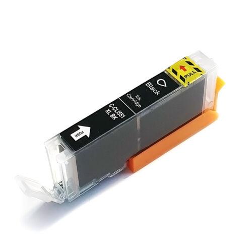 CLI-551XL Bk CLI-551Bk XL nagykapacitású (12ml!) +chip utángyártott QP bulk patron IP7250/MG54