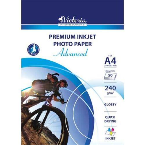 """Fotópapír, A4, 240 g, fényes, tintasugaras, 50 ív, """"Advanced"""""""