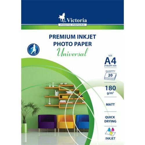 """Fotópapír, A4, 180 g, matt, tintasugaras, 1 ív, """"Universal"""""""