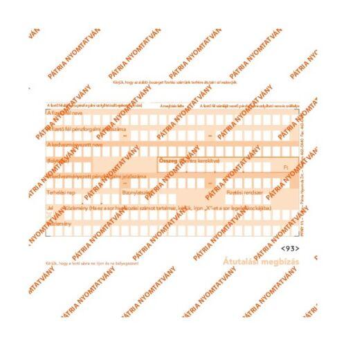 """PFNY.11 2lapos garnitúra """"Átutalási megbízás"""" nyomtatvány"""