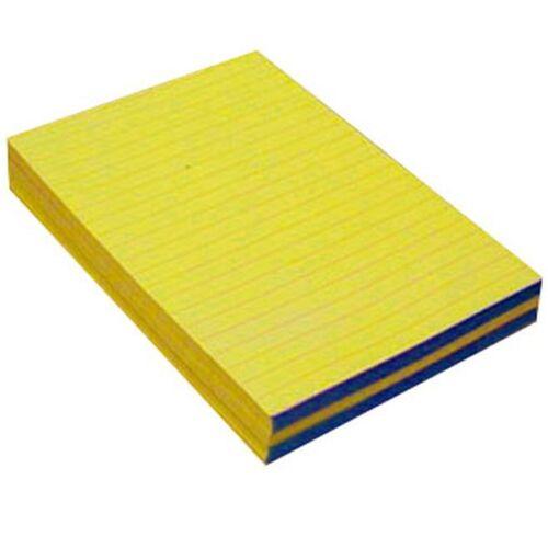 A5 vonalas ragasztott sárga jegyzettömb