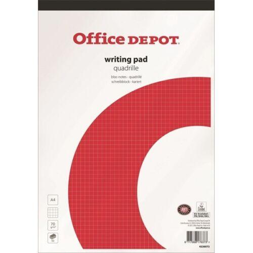 Office Depot A4 kockás ragasztott jegyzettömb