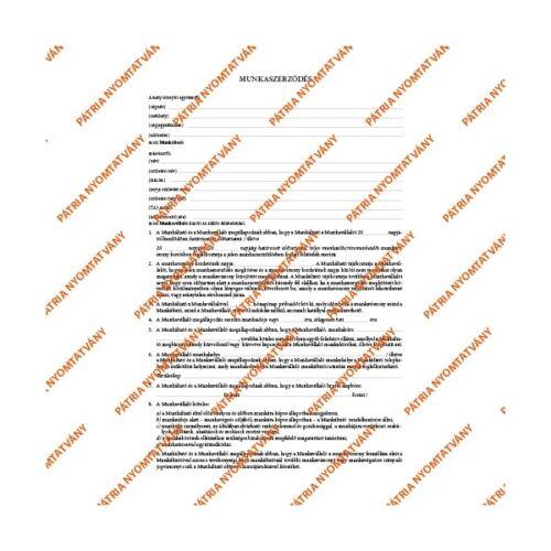 """Office Depot B.18-51/2012 A4 3lapos garnitúra álló """"Munkaszerződés"""" nyomtatvány"""