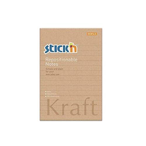 StickN KraftNotes 150x101mm 100lap vonalas öntapadó jegyzettömb