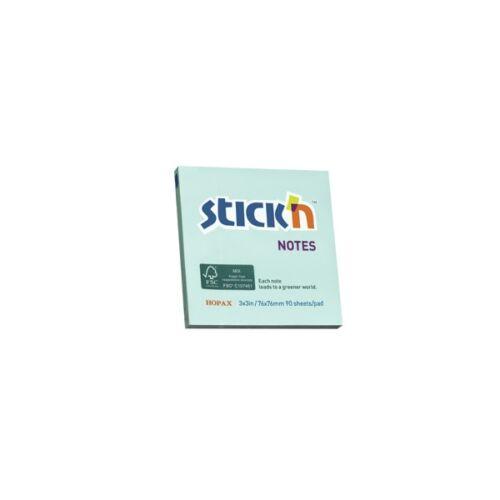 StickN 76x76mm 90lap környezetbarát pasztell kék jegyzettömb