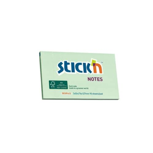 StickN 76x127mm 90lap környezetbarát pasztell zöld jegyzettömb