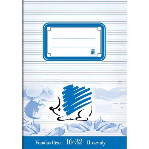 ICO Süni A5 16-32 2.osztályos vonalas füzet