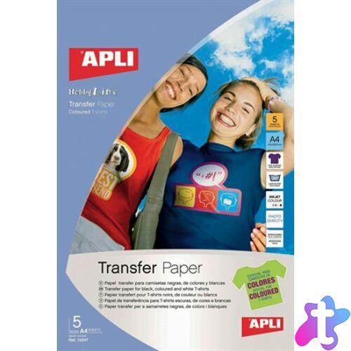 Fotópapír, A4, vasalható fólia színes pólókhoz, tintasugaras, 1 ív