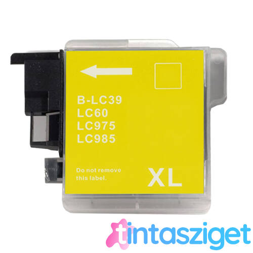 LC39   LC980    LC985   LC1100 Y sárga festékpatron, utángyártott, NN/QP