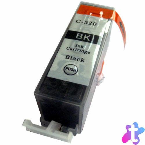 PGI-520 Bk festékpatron, utángyártott, chipes, fekete, QP