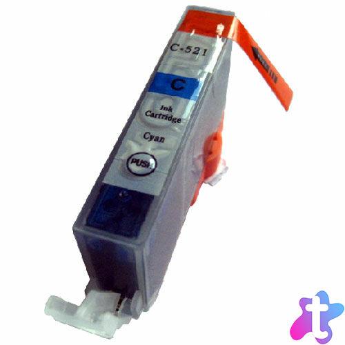 CLI-521 C festékpatron, utángyártott, chipes, cyan, QP