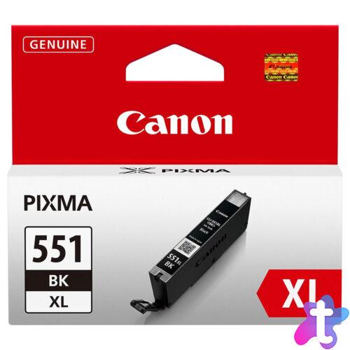 CLI-551XL Bk CLI-551Bk XL nagykapacitású eredeti festékpatron IP7250/MG5450/MG5550/MG6350