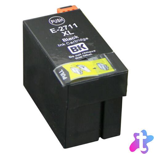 27XL (T2711) fekete festékpatron, utángyártott, QP