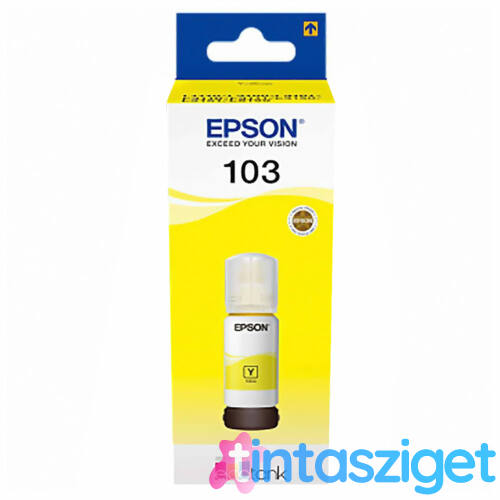 no. 103 Y (T00S44A) EcoTank tinta, sárga, 65 ml, eredeti