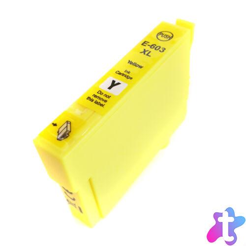 603XL (C13T03A44010) yellow festékpatron, utángyártott, PQ