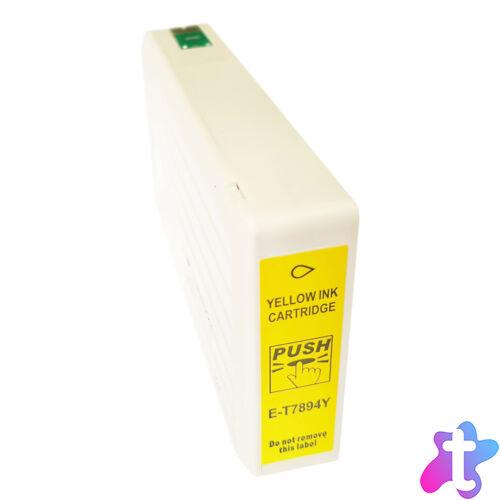 T7894 sárga festékpatron, utángyártott (C13T789440)
