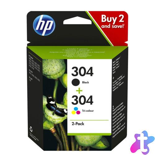 304 Bk+Color (3JB05AE) festékpatron csomag, fekete+háromszínű, eredeti (N9K06AE+N9K05AE)