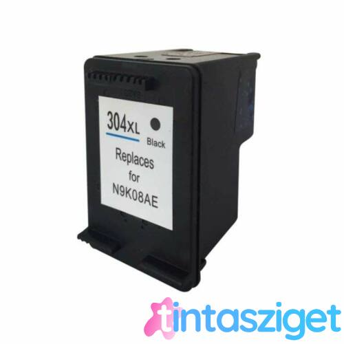 N9K08AE 304XXL fekete, utángyártott festékpatron GR HP DeskJet 2620, 2630, 2632
