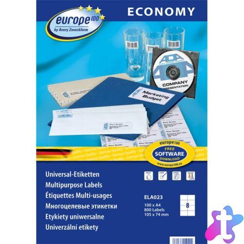 Avery Europe100 ELA023 105x74mm univerzális 800db-os etikett