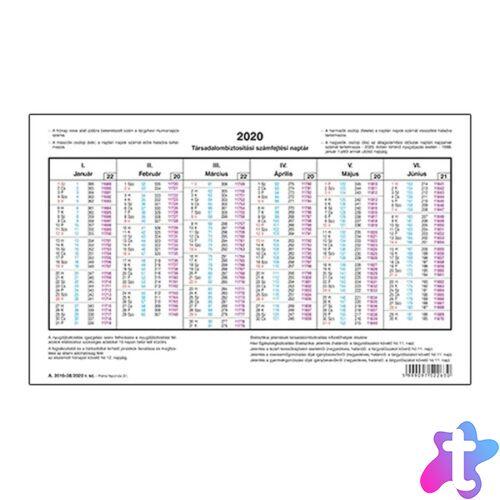 Számfejtési TB naptár