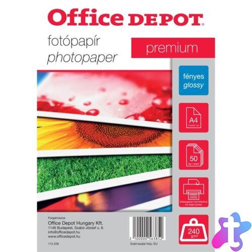 Office Depot Premium A4 240g fényes 50db fotópapír