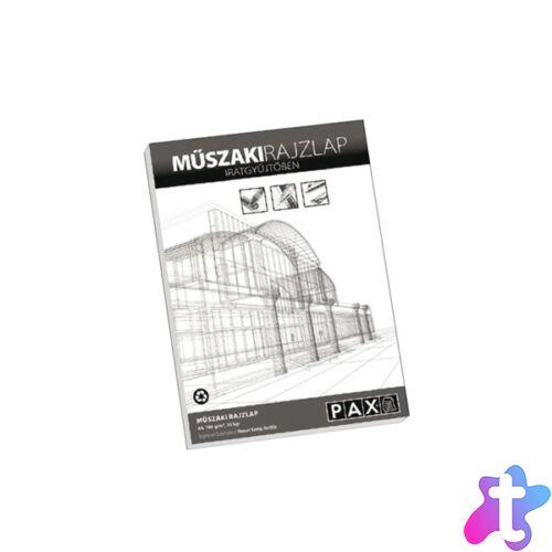 Pax A4 famentes műszaki 20 lap/csomag rajztömb